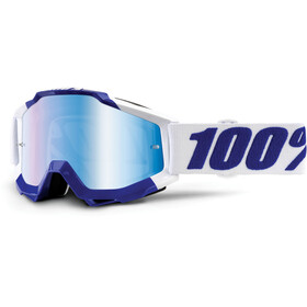 100% Accuri goggles Anti Fog Mirror Lens / blauw/wit